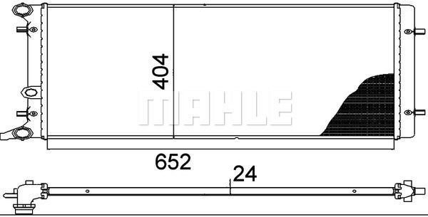 MAHLE ORIGINAL | Kühler, Motorkühlung CR 368 000P