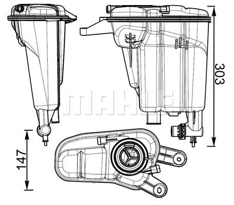 Original NISSAN Kühler Ausgleichsbehälter CRT 95 000S