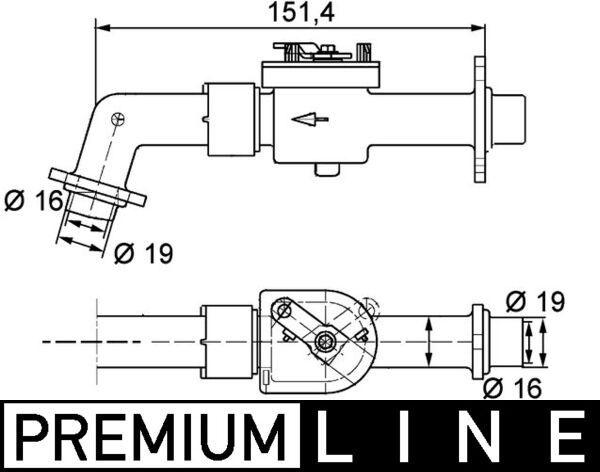 MAHLE ORIGINAL: Original Kühlmittelregelventil CV 6 000P ()