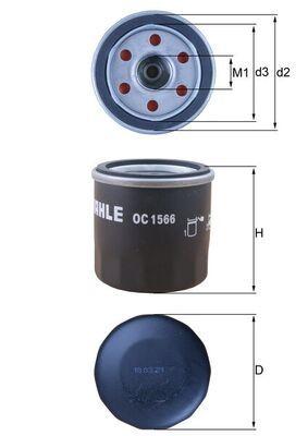 OC 1566 Ölfilter MAHLE ORIGINAL Test