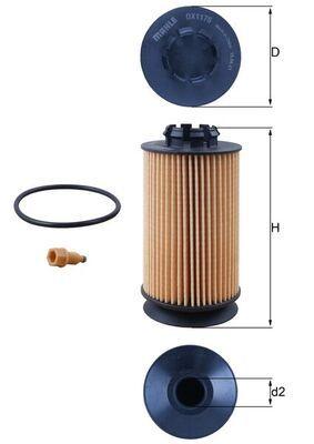 MAHLE ORIGINAL Filtro olio per MITSUBISHI – numero articolo: OX 1175D