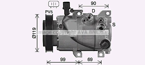 HYK487 PRASCO Kältemittel: R 1234yf, R 134a Riemenscheiben-Ø: 119mm Klimakompressor HYK487 günstig kaufen