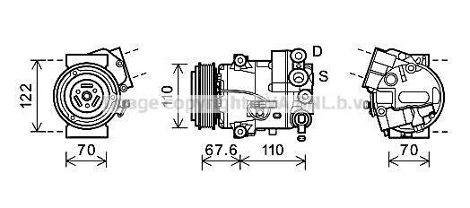 Klimakompressor PRASCO OLAK605