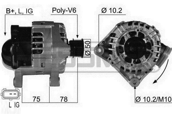 Original Latausgeneraattori 210464A BMW
