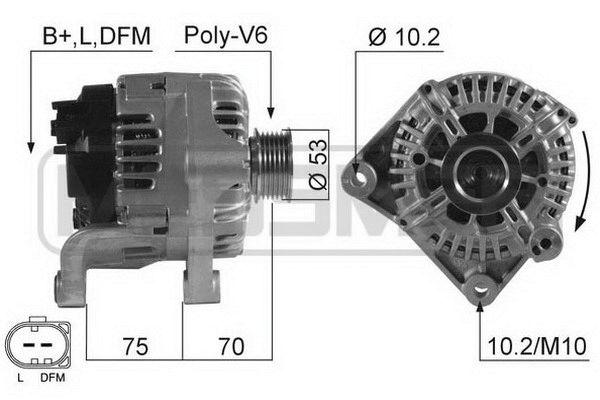 Original Generaattori 210530A BMW