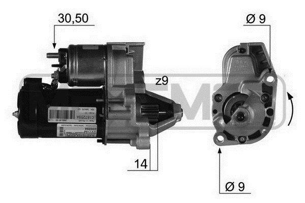 Startmotor 220394A till rabatterat pris — köp nu!