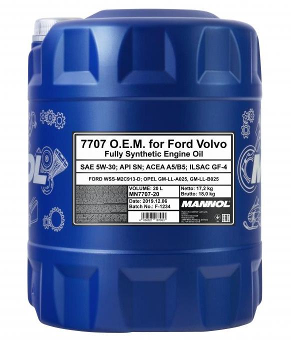 Moottoriöljyä MN7707-20