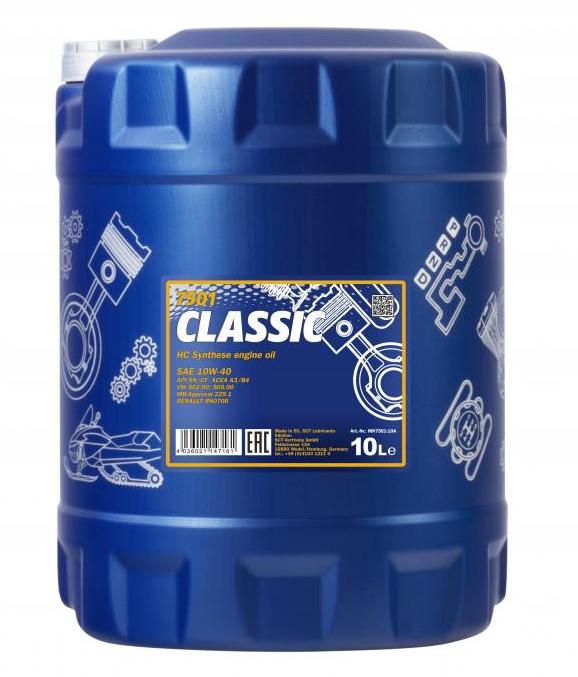 MN7501-10 MANNOL CLASSIC 10W-40, 10l, Teilsynthetiköl Motoröl MN7501-10 günstig kaufen