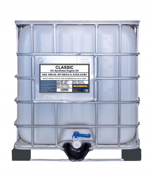 MN7501-IBC MANNOL CLASSIC 10W-40, 1000l, Teilsynthetiköl Motoröl MN7501-IBC günstig kaufen