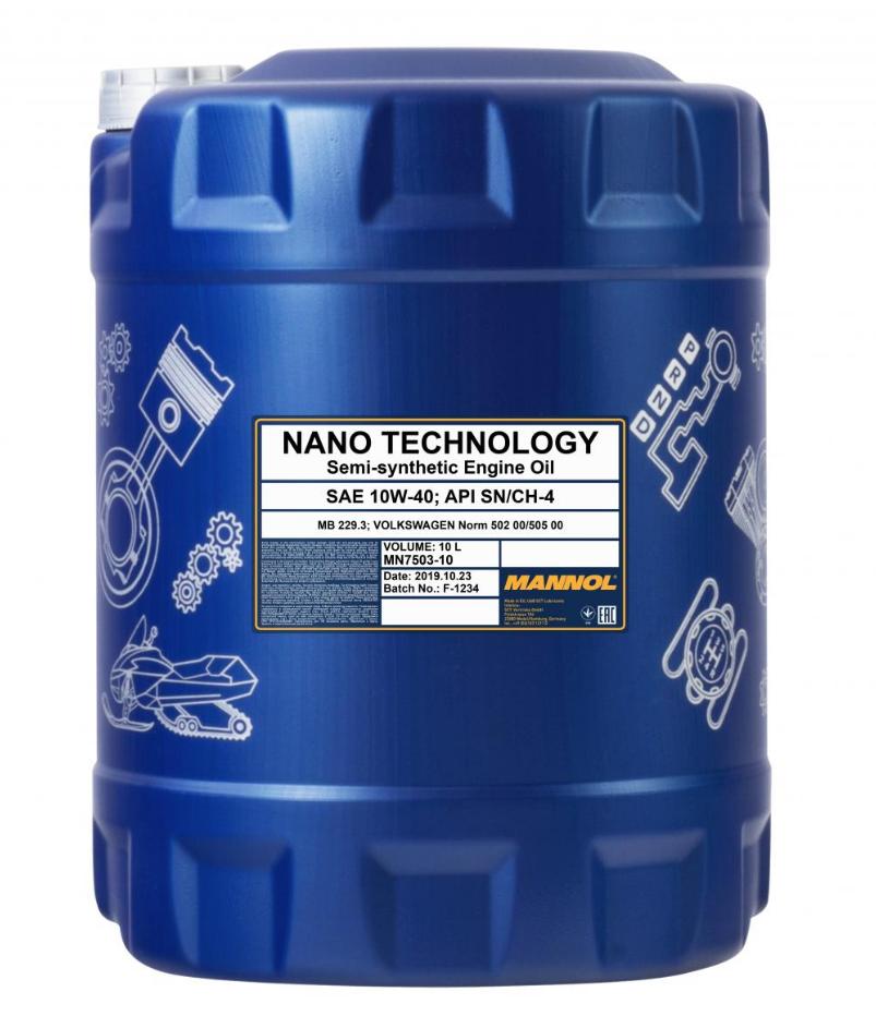 MN7503-10 MANNOL NANO TECHNOLOGY 10W-40, 10l, Teilsynthetiköl Motoröl MN7503-10 günstig kaufen