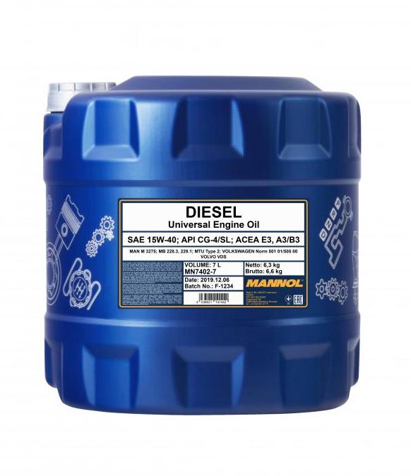 MN7402-7 MANNOL DIESEL 15W-40, 15W-40, 7l, Mineralöl Motoröl MN7402-7 günstig kaufen