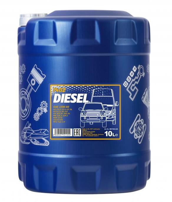 MN7402-10 MANNOL DIESEL 15W-40, 10l, Mineralöl Motoröl MN7402-10 günstig kaufen