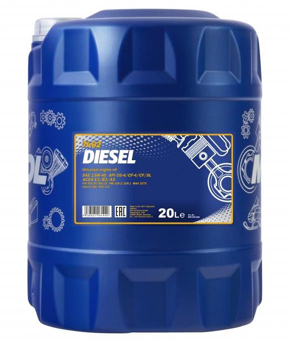 MN7402-20 MANNOL DIESEL 15W-40, 15W-40, 20l, Mineralöl Motoröl MN7402-20 günstig kaufen