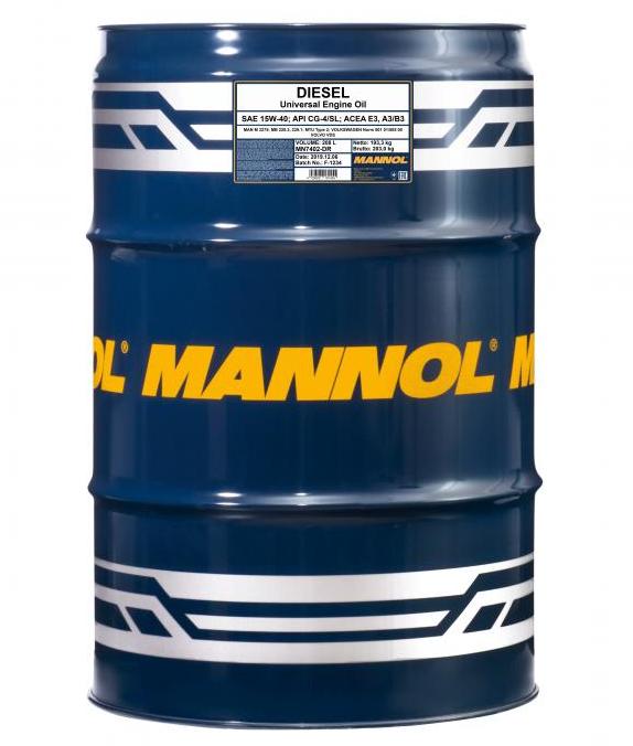 MN7402-DR MANNOL DIESEL 15W-40, 15W-40, 208l, Mineralöl Motoröl MN7402-DR günstig kaufen