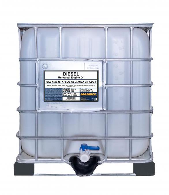 MN7402-IBC MANNOL DIESEL 15W-40, 1000l, Mineralöl Motoröl MN7402-IBC günstig kaufen
