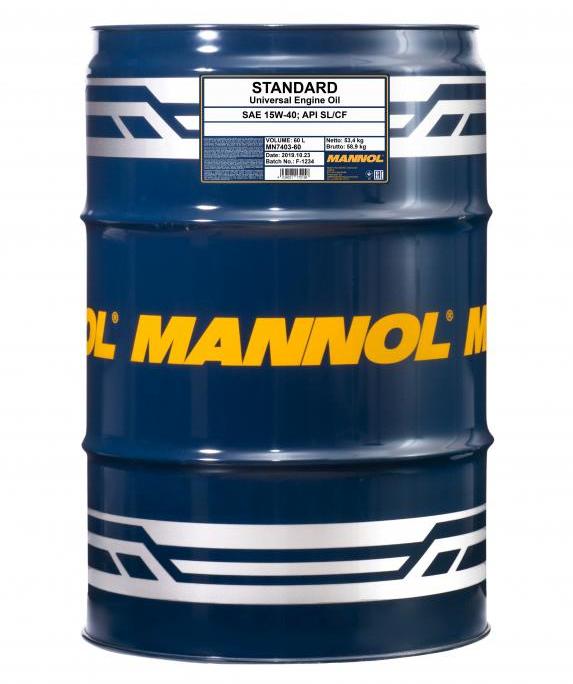 MN7403-60 MANNOL STANDARD 15W-40, 15W-40, 60l, Mineralöl Motoröl MN7403-60 günstig kaufen