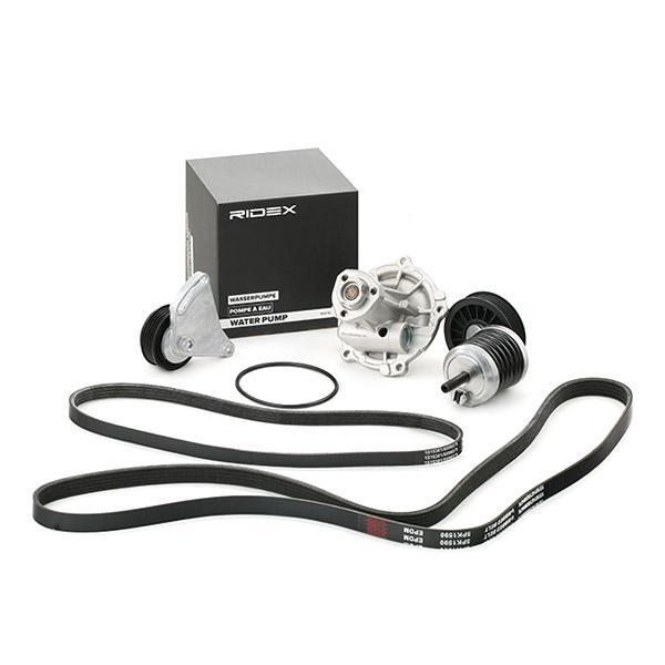 RIDEX   Wasserpumpe + Keilrippenriemensatz 4172P0014
