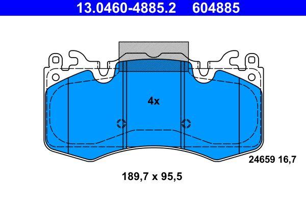 ATE Bremsbelagsatz, Scheibenbremse 13.0460-4885.2