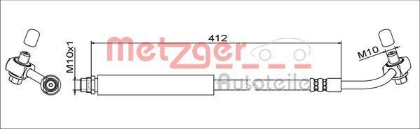 Original CHEVROLET Bremsschläuche 4111348