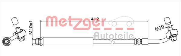 Original CHEVROLET Bremsschlauch 4111356