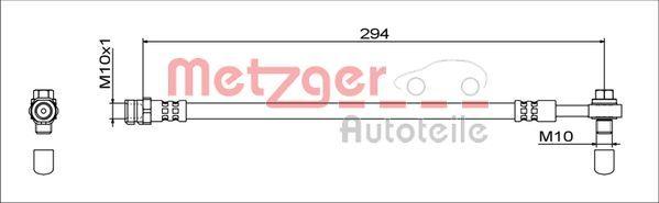 Bremsschläuche METZGER 4111538