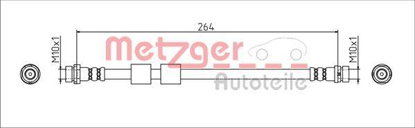 Bremsschläuche METZGER 4111544