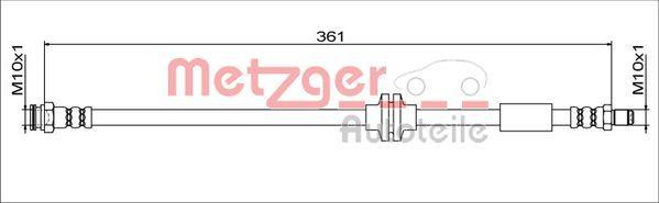 Bremsschlauch METZGER 4111779