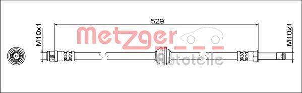 Bremsschläuche METZGER 4111811