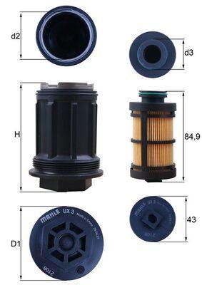 UX 3KIT MAHLE ORIGINAL Urea Filter: buy inexpensively