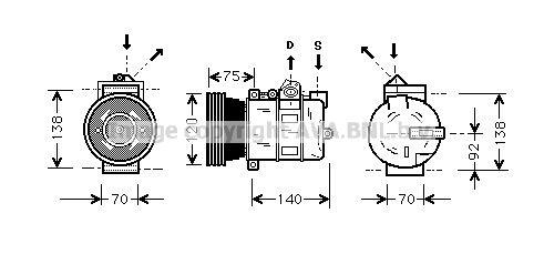 PRASCO | Ölkühler, Automatikgetriebe AU3345