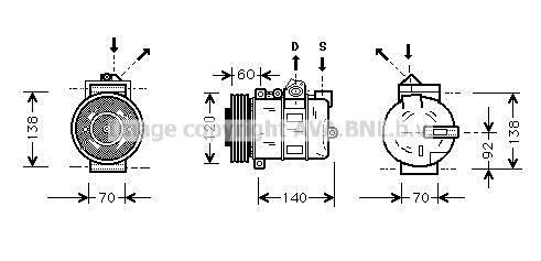 AU3345 Ölkühler, Automatikgetriebe PRASCO AU3345 - Große Auswahl - stark reduziert