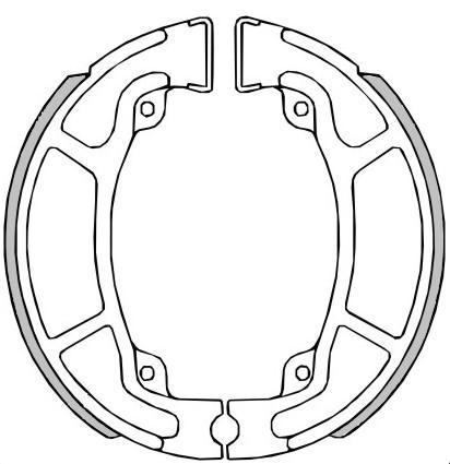 Moto RMS Bremsbelag, Trommelbremse 22 512 0470 günstig kaufen