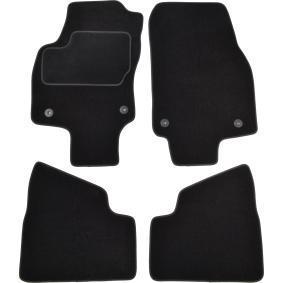 122714 CUSTOPOL Maßgefertigt Textil, vorne und hinten, Menge: 4, schwarz Autofußmatten 122714 günstig kaufen