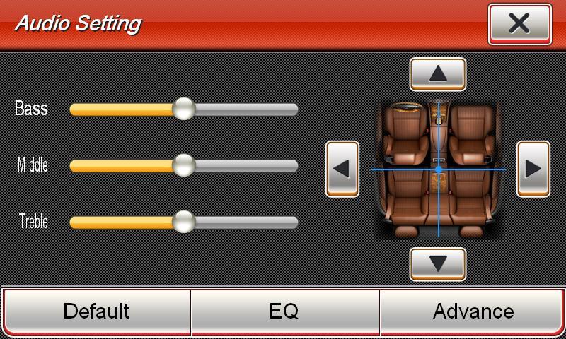 VN720VW Pantalla para coche ESX Test