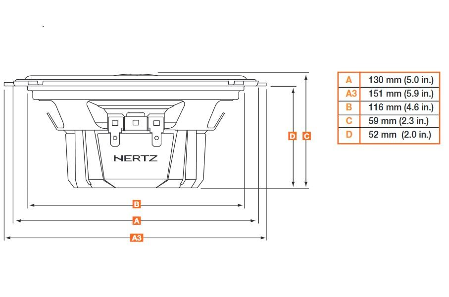 DCX130.3 Говорители HERTZ - на по-ниски цени