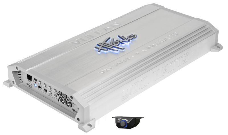 VXI9404 HIFONICS Vulcan A/B, med fjärrkontroll, High(10-1200), Low(30-250)Hz, 1800W, (45 Hz), Bassboost 0-12dB Audioförstärkare VXI9404 köp lågt pris