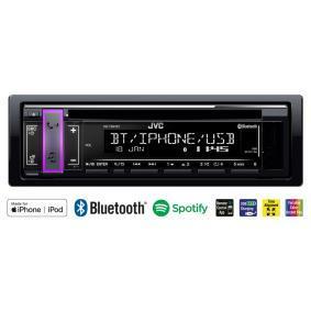 KD-T801BT JVC Kopplingar/Kontakter: AUX in, Kopplingar/Kontakter: USB, MP3, WMA, AAC, WAV, FLAC Stereoanläggning KD-T801BT köp lågt pris