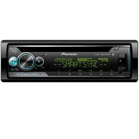 DEH-S510BT PIONEER DEH-S510BT Made for iPhone, Android, 1-DIN, Kopplingar/Kontakter: USB, Kopplingar/Kontakter: AUX in, MP3, WMA, WAV, FLAC, AAC Effekt: 4x50W Stereoanläggning DEH-S510BT köp lågt pris
