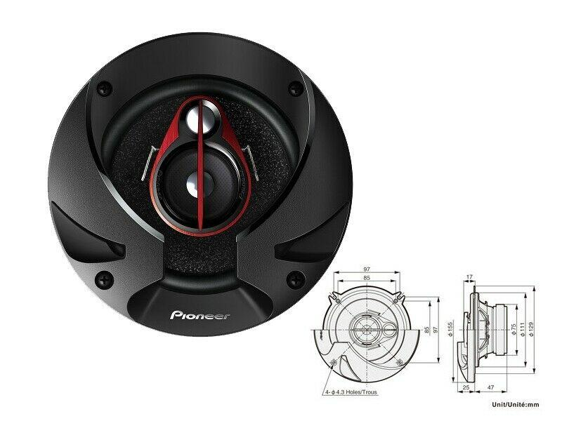 Купете TS-R1350 PIONEER TS-R1350 Ø: 130мм, мощност: 250ват Говорители TS-R1350 евтино