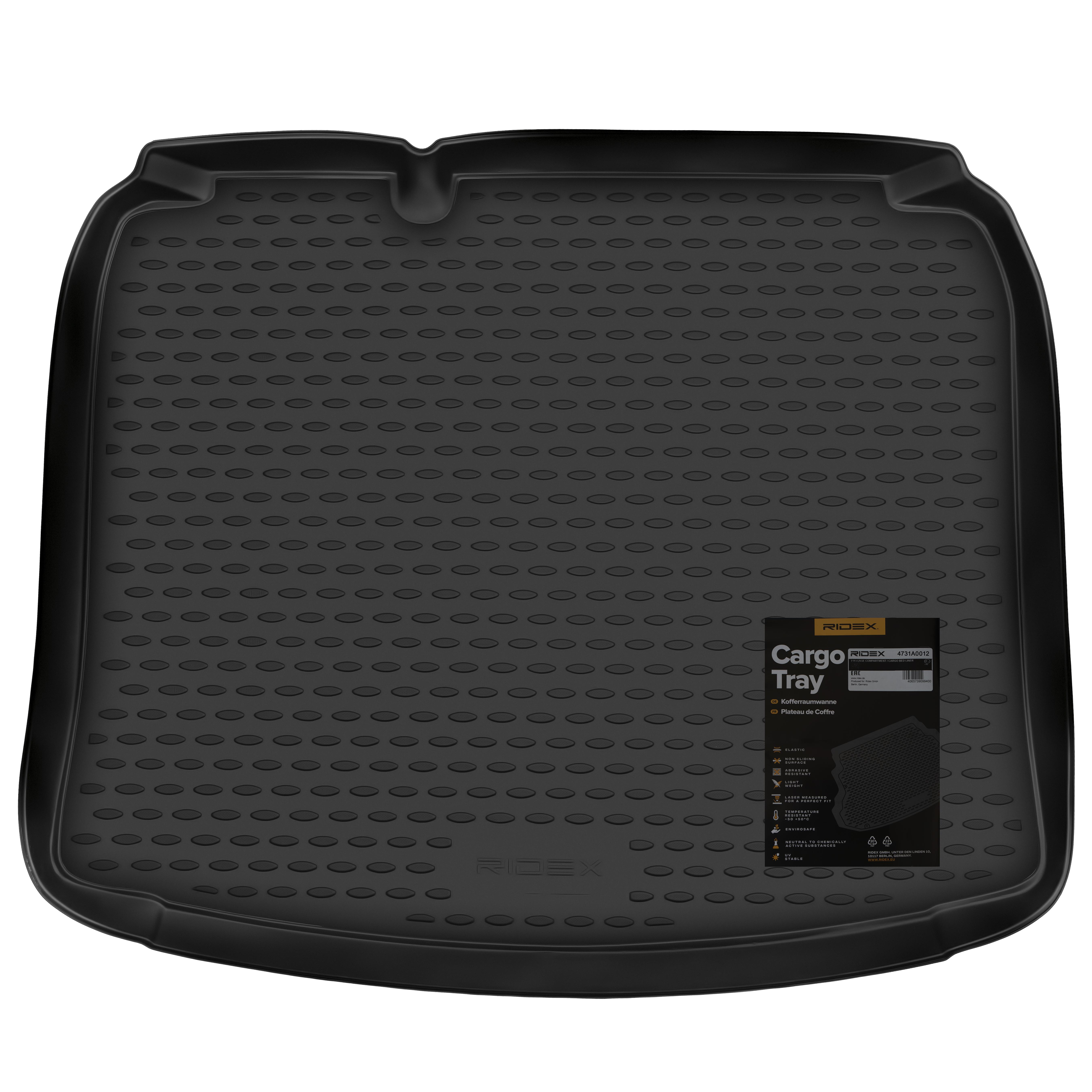 4731A0012 Kofferbakschaal Aantal: 1, Kofferruimte, Zwart, Rubber van RIDEX tegen lage prijzen – nu kopen!