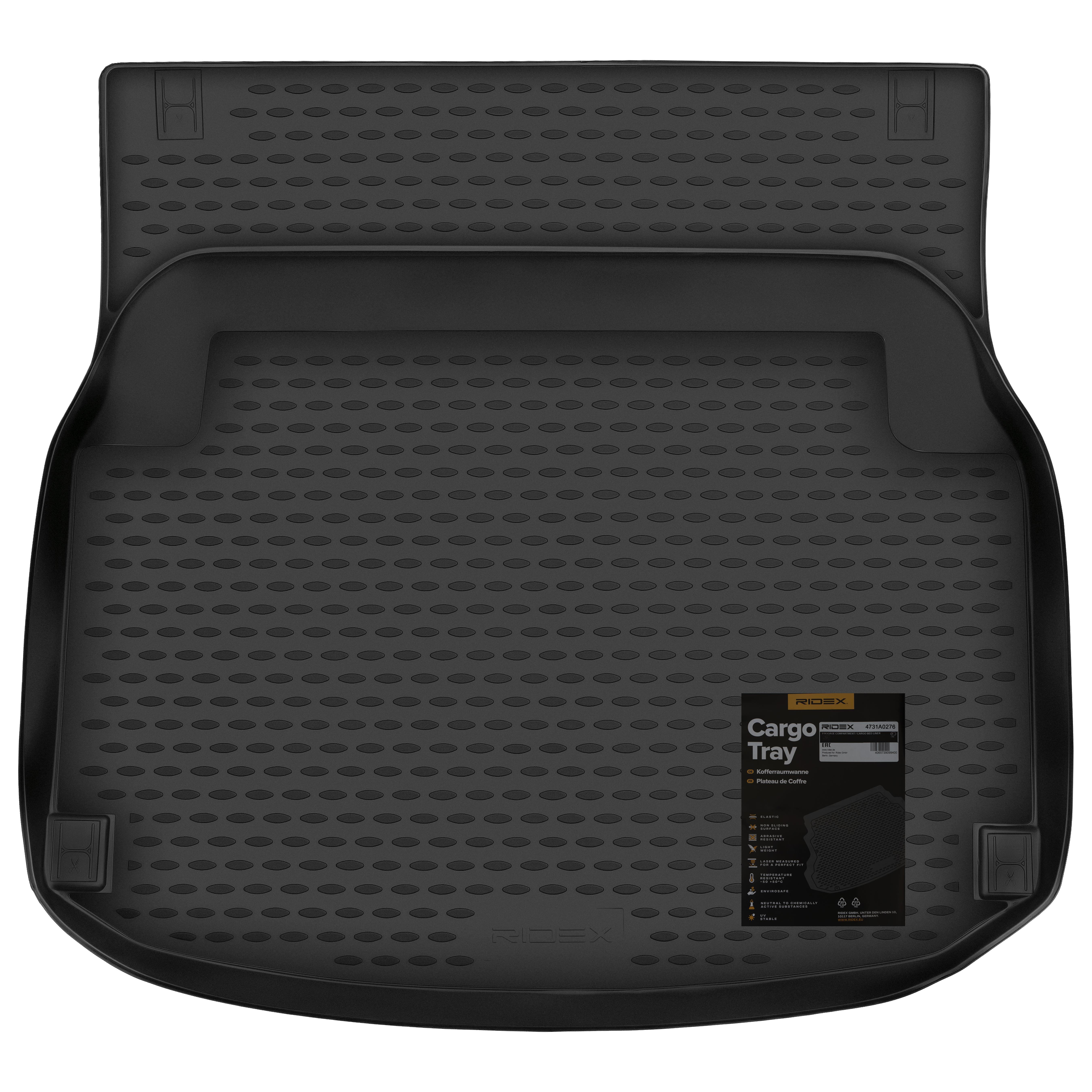 4731A0276 Bagagemattor Bagageutrymme, svart, gummi från RIDEX till låga priser – köp nu!