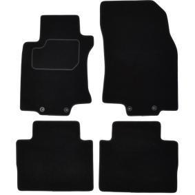 NIS300C CUSTOPOL Voor en achter, Zwart, Textiel, Aantal: 4 Vloermatset NIS300C