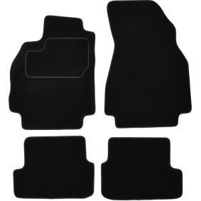 RNT345C CUSTOPOL Voor en achter, Zwart, Textiel, Aantal: 4 Vloermatset RNT345C