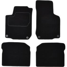 VW160C CUSTOPOL Maßgefertigt Textil, vorne und hinten, Menge: 4, schwarz Autofußmatten VW160C günstig kaufen