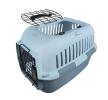 661-450796 Caisse de transport pour chien Métal, Matière plastique, Taille: M-L, Couleur: bleu clair EBI à petits prix à acheter dès maintenant !