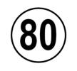 9000090-80 Witte plusguide Warnschild - online kaufen