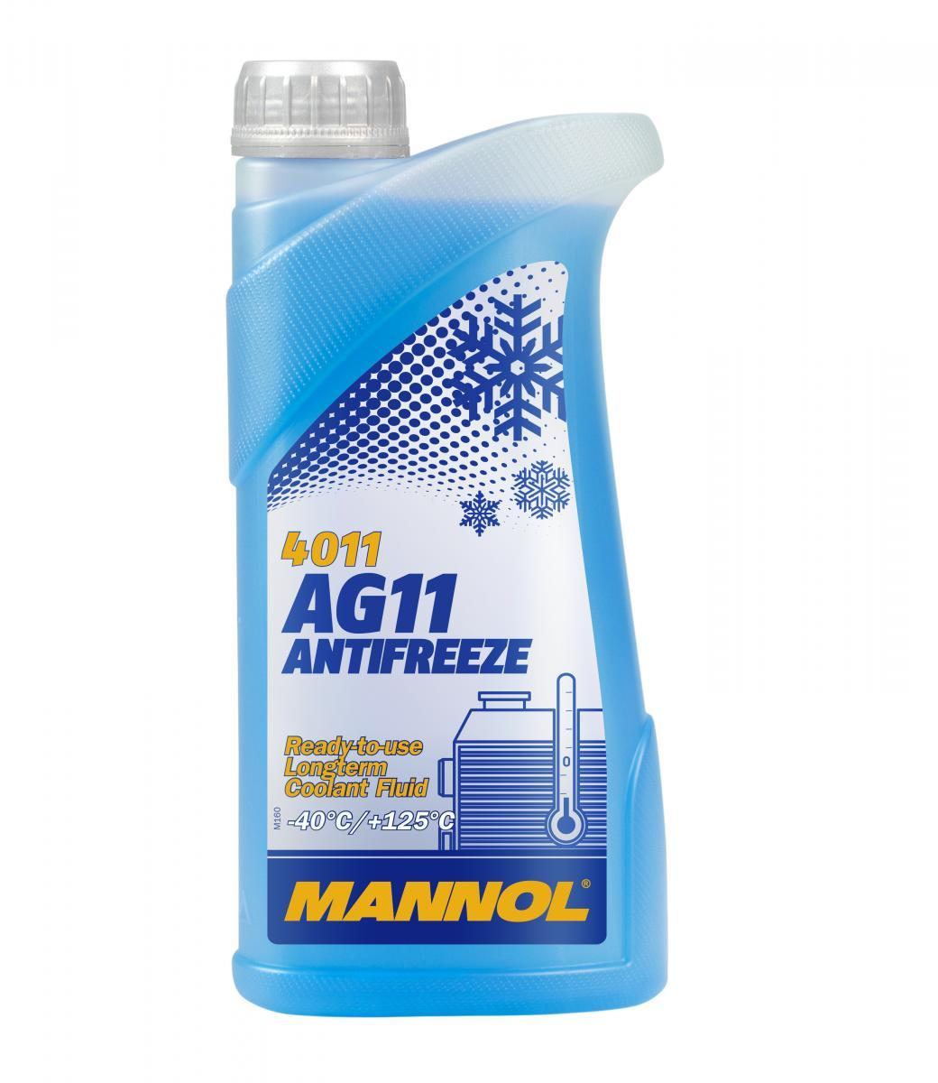 MANNOL: Original Gefrierschutzmittel MN4011-1 (G11, Temperaturbereich von: -40°C)