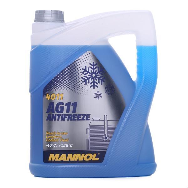 MANNOL: Original Gefrierschutzmittel MN4011-5 (GME L1301, AFNOR NF R15-601, BMW/MINI GS 94000, CHRYSLER MS-7170, MAN 324 Typ NF, MTU MTL 5048, OPEL/VAUXHALL, TESLA, UK BS 6580:2010, USA ASTM D3306, VW/AUDI TL-774 C, Temperaturbereich von: -40°C)