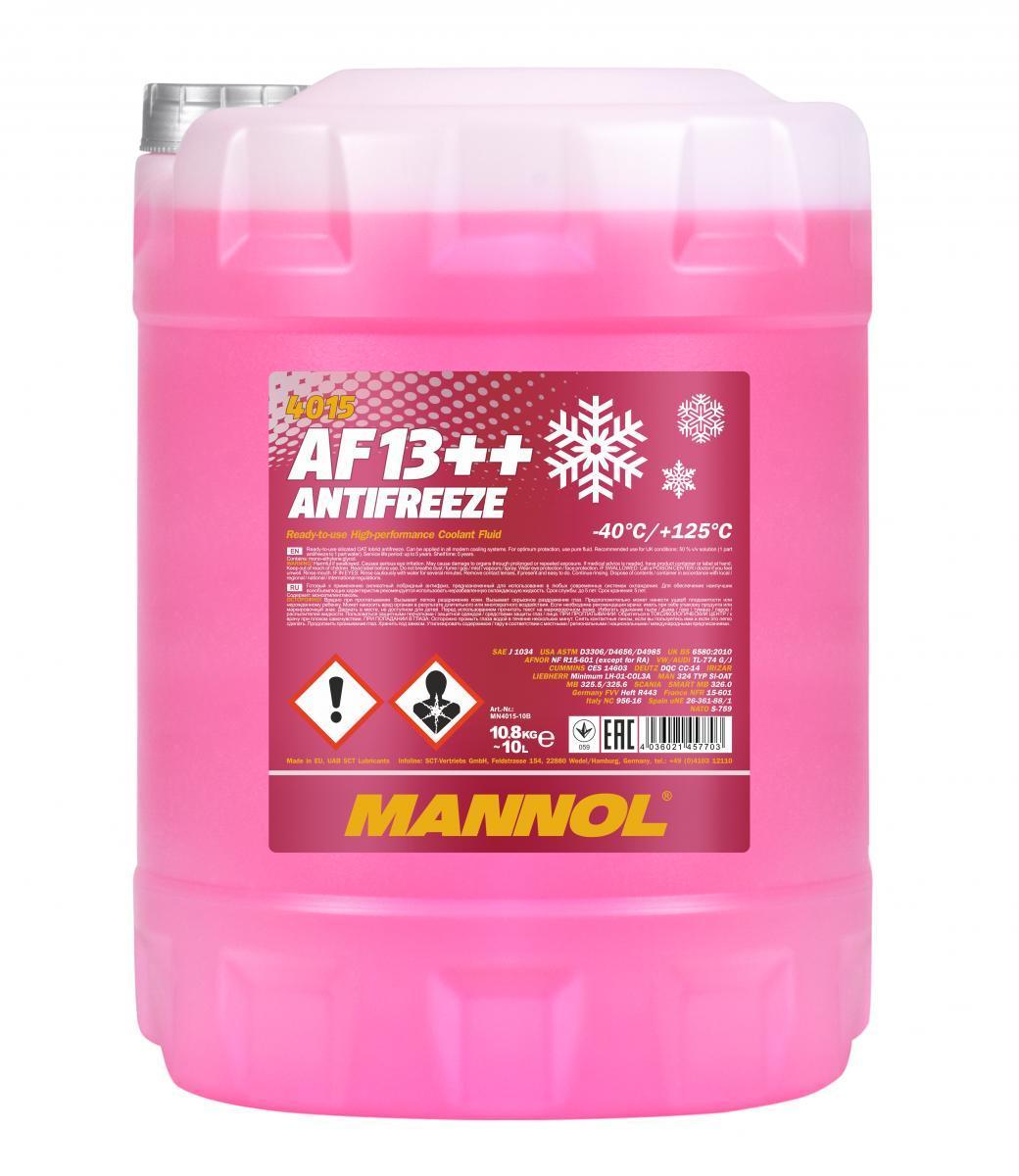 MN4015-10 MANNOL AF13++, High-performance G12 rot, 10l G12, Temperaturbereich von: +125, -40°C Frostschutz MN4015-10 günstig kaufen
