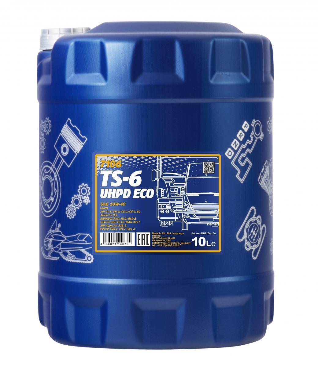 MN7106-10 MANNOL TS-6, UHPD Eco 10W-40, 10l Motoröl MN7106-10 günstig kaufen